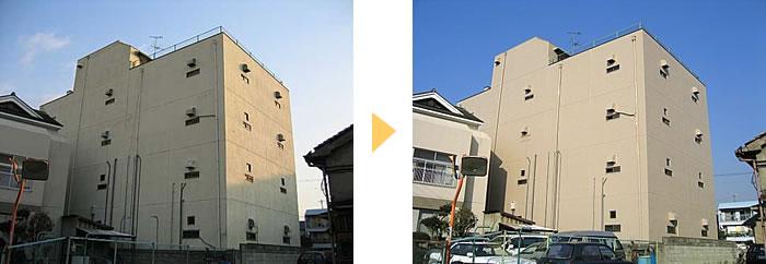 外壁塗装工事例大阪府東大阪市