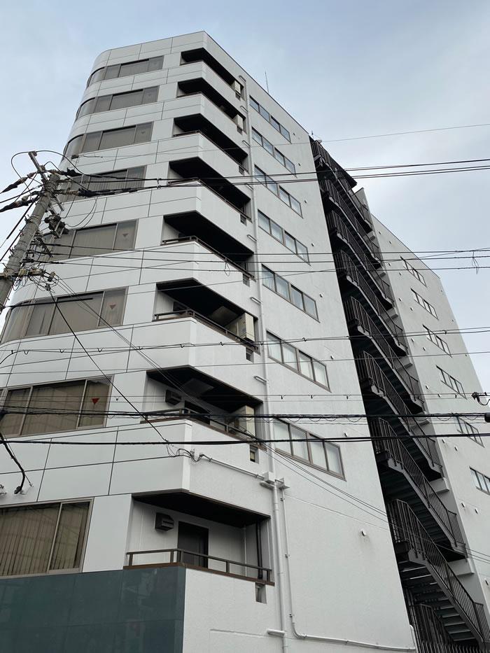 大阪市東淀川区のマンションで外壁塗装と大規模修繕