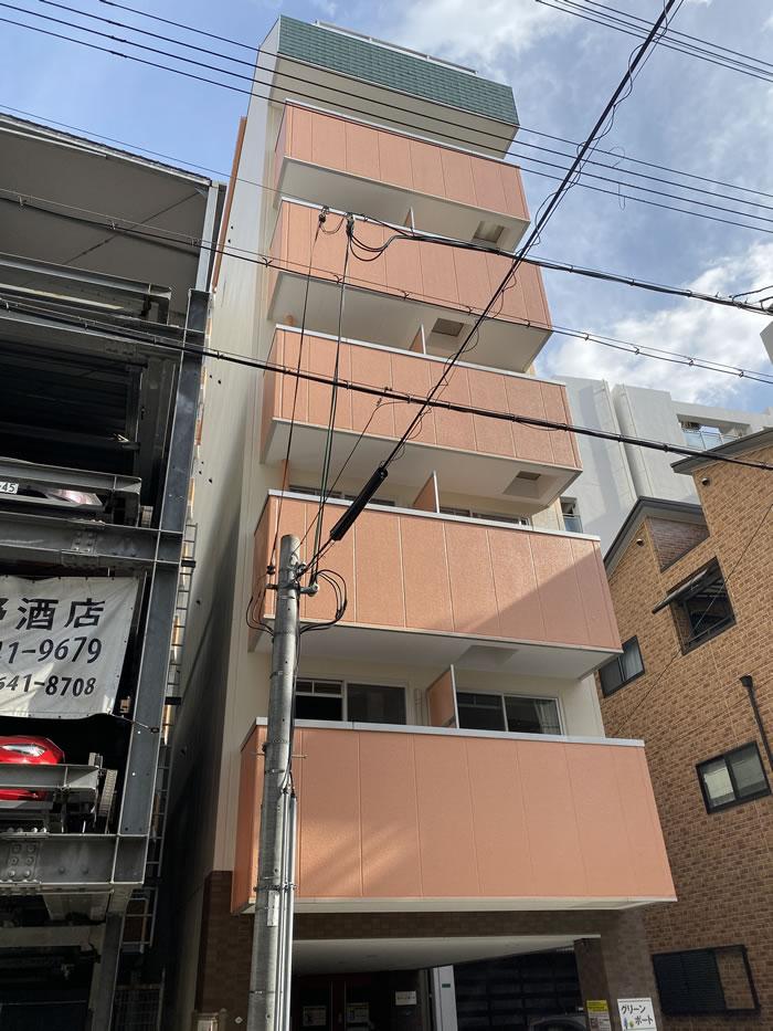大阪市浪速区のマンションで外壁塗装・大規模修繕工事