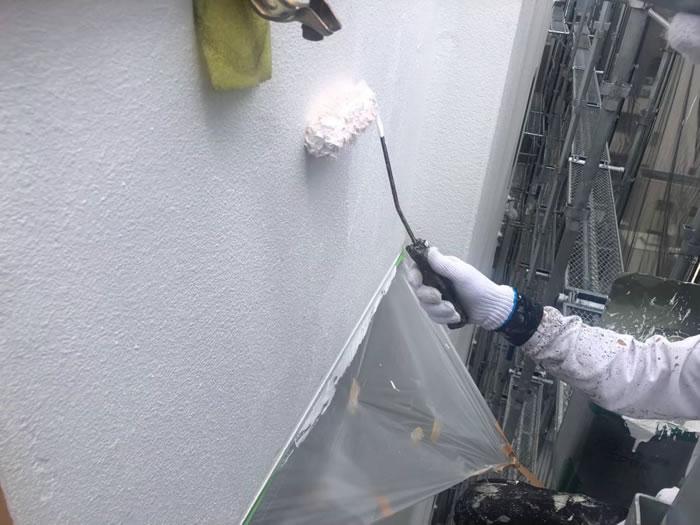 大阪市大正区のビルで外壁塗装