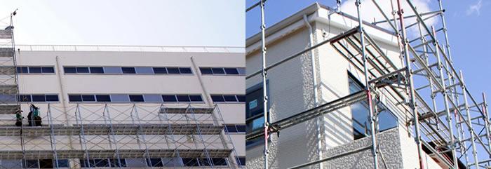 大阪府高槻市のマンションで大規模修繕工事・外壁塗装